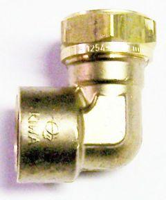Pegler Yorkshire Kuterlite K617 90Deg Female Elbow 22Mm X 3/4