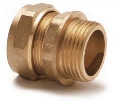 Center Cb Compression Straight Male Iron Parallel Thread Connector 15Mm X 1/2