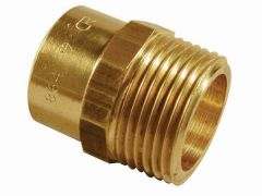 Center Cb Integral Solder Ring Straight Male Iron Connector 22Mm X 3/4