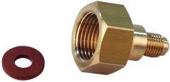 Refcom Cylinder Adaptor 1/4 X 5/8 Bsp