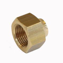 Refcom Flare Short Red Nut 1/2X3/8