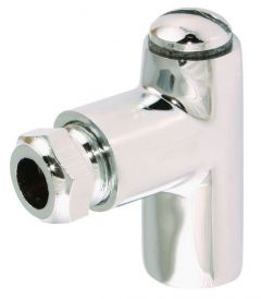 1 Chrome Plated Restrictor Elbow 8Mm