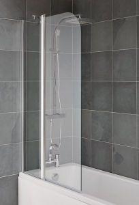 Nabis Half Folding Bath Screen Chrome/Clear Glass