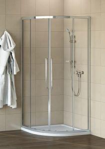 Ideal Standard Kubo Ideal Clean Quadrant 900Mm Silver/Clear Glass