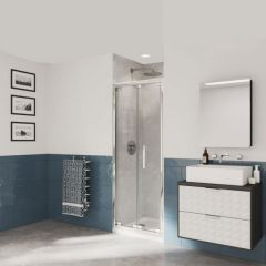 Coram Optima6 Bifold Door 900X1900 Gl Ch