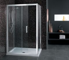 Ideal Standard Synergy L6218 Shower Panel 900Mm Silver/Clear Glass