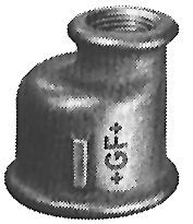 Gf-260 Ecc.Red.Socket-Blk 1 1/2 X 1/2