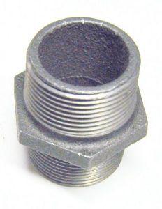 Gf-280 Hex Nipple -Blk 1 1/4