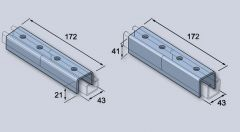 Channel Connector-Galv-41Mm-External