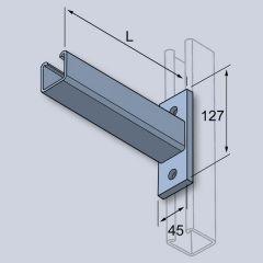 Canti Arm-Galv-Flat Plate-41X41 - 300Mm