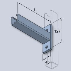 Canti Arm-Galv-Flat Plate-41X41 - 750Mm