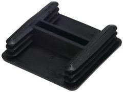 End Cap - Pvc - Black - 41 X 41