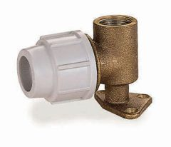 Pln 20Mm Brass Wall Plate Elbow 9055