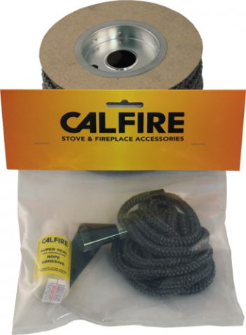 Soft Black Rope Seal Pack (With 80Ml Super Silicone) 6Mm X 2M