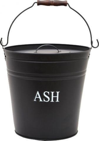 Black Printed Ash Bucket & Lid 300