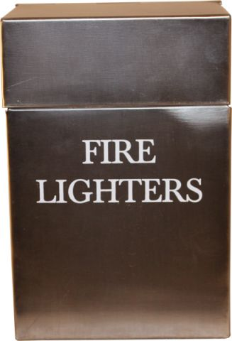 Ant Pewter Fire Lighters Box Printed H205 X W80 X D40mm