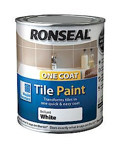 Ronseal 1Ct Tile Paint White Gloss 750Ml