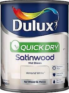 Dulux Quick Dry Satinwood Pure Brilliant White 2.5L