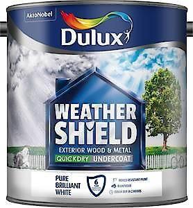 Dulux Weathershield Ext Undercoat Pure Brilliant White 2.5L