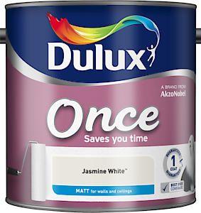 Dulux Once Matt Jasmine White 2.5L