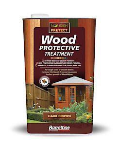 Barrettine Wood Protect Dark Brown 5L