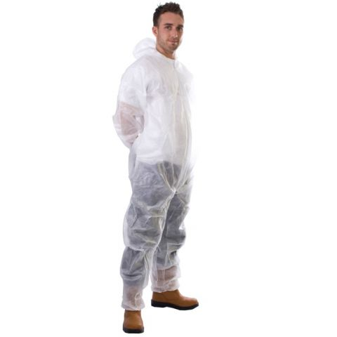 Supertouch Pp Coverall Non Woven White Xxlarge