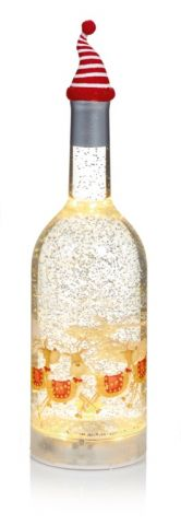 33Cm Glass Bottle Led Water Spinner