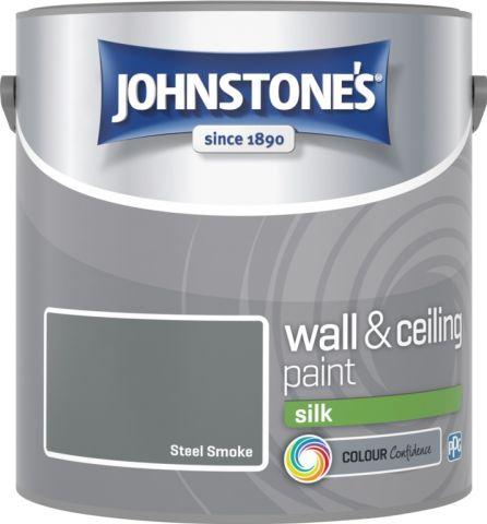 Johnstone's Wall & Ceiling Silk 2.5L Steel Smoke
