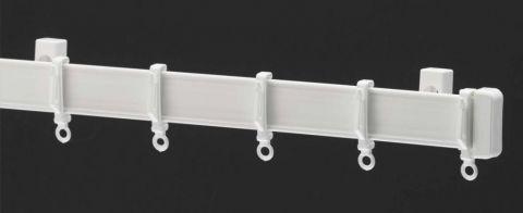 Harrison Drape Standard Drape Curtain Track 125Cm White