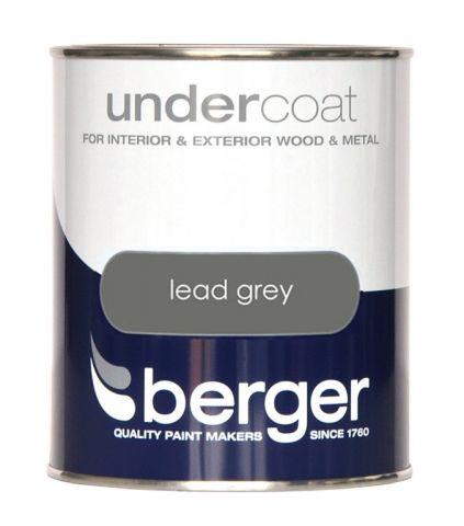 Berger Undercoat 750Ml Lead Grey