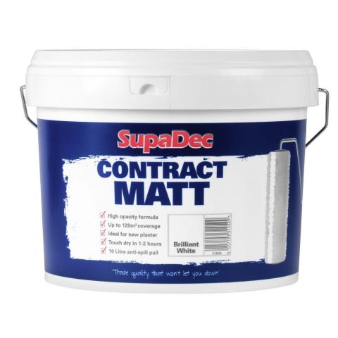 Supadec Contract Matt Emulsion Paint 10L White