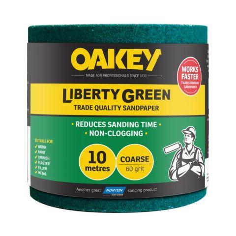 Norton Oakey Liberty Green Rolls - 10M X 115Mm 60 Grade