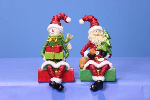 Sitting Santa/Snowman