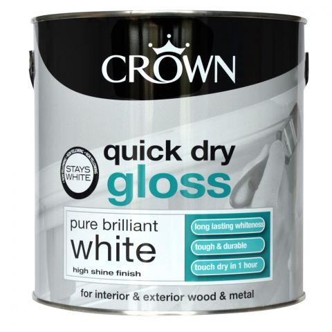 Crown Quick Dry Gloss 2.5L Pure Brilliant White