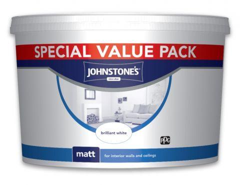 Johnstone's Wall & Ceiling Matt 7.5L Brilliant White