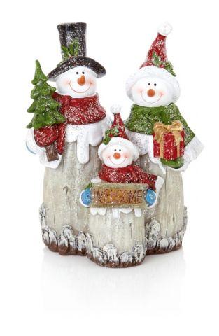 Frosty Woodland Snowman Ornament