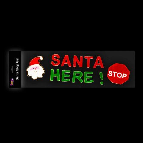 Santa Stop Gel Cling