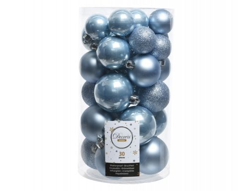 Shatterproof Bauble Mixed Tube Of 30
