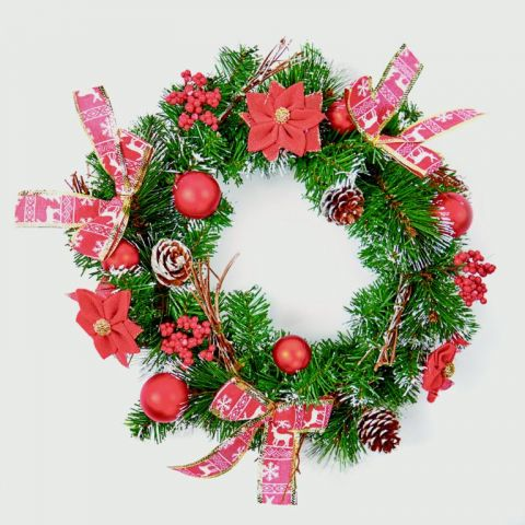 Red Dressed Wreath