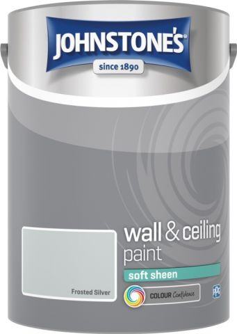 Johnstone's Wall & Ceiling Soft Sheen 5L Frosted Silver