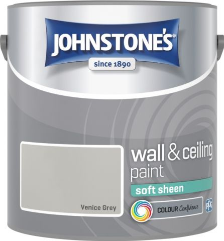 Johnstone's Wall & Ceiling Soft Sheen 2.5L Venice Grey
