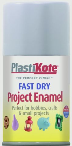 Plastikote Fast Dry Enamel Aerosol Paint Aluminium - 100Ml