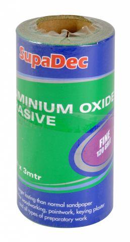 Supadec Aluminium Oxide Roll Fine Grade 120 Grit 3M