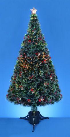 Fibre Optic Tree With Pine Cones & Berries