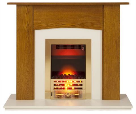 Fireplace Surround - Yew/Cream
