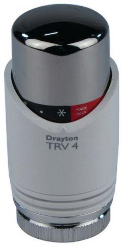 Drayton Trv4 Integral Sensor Head White/Chrome