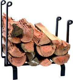 Lc Birtley Log Rack; Black 415H 380W 255D