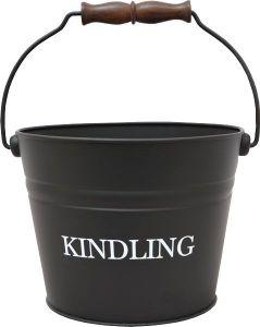 Small Black Kindling Bucket Printed 230