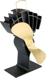 Ecofan 810 Ultrair Wood-Stove Fan; Black & Gold