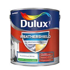 Dulux Weathershield Masonry Smooth Pure Brilliant White 2.5L